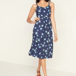 NWT Old Navy Blue Floral Midi Dress